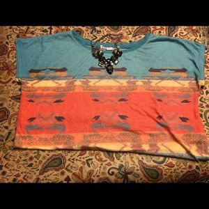 Tribal Box-Crop Tee